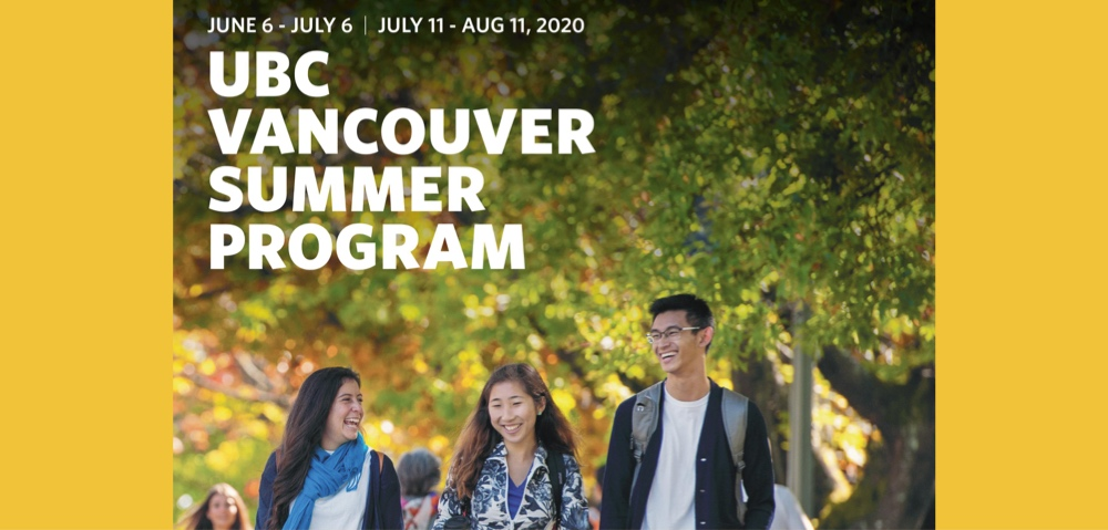 2020 Vancouver Summer Program is now open for application