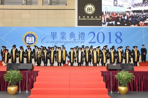 Secretary Alexis Tam officiates MUST Congregation 2018  Over 2000 students awarded graduation certificates