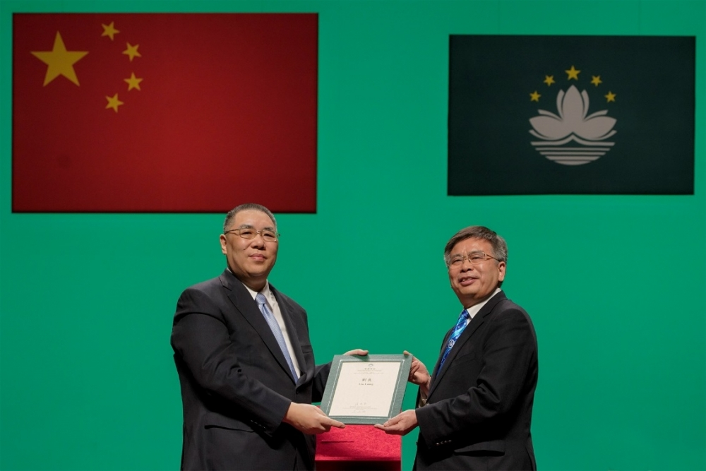 President Liu Liang and Advisor Xu Aoao Receive Honors from the  Macao S.A.R.