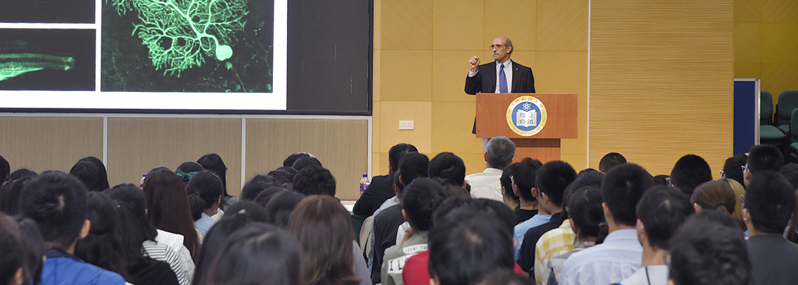 Prof. Martin Chalfie, Nobel Laureate in Chemistry shares views with M.U.S.T. students