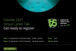 Deloitte 2021 Virtual Career Talk (Application Deadline: Sep 9)